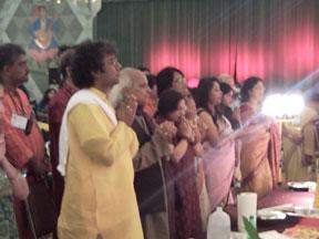 Pandit Jasraj at the Kallol Durga Puja