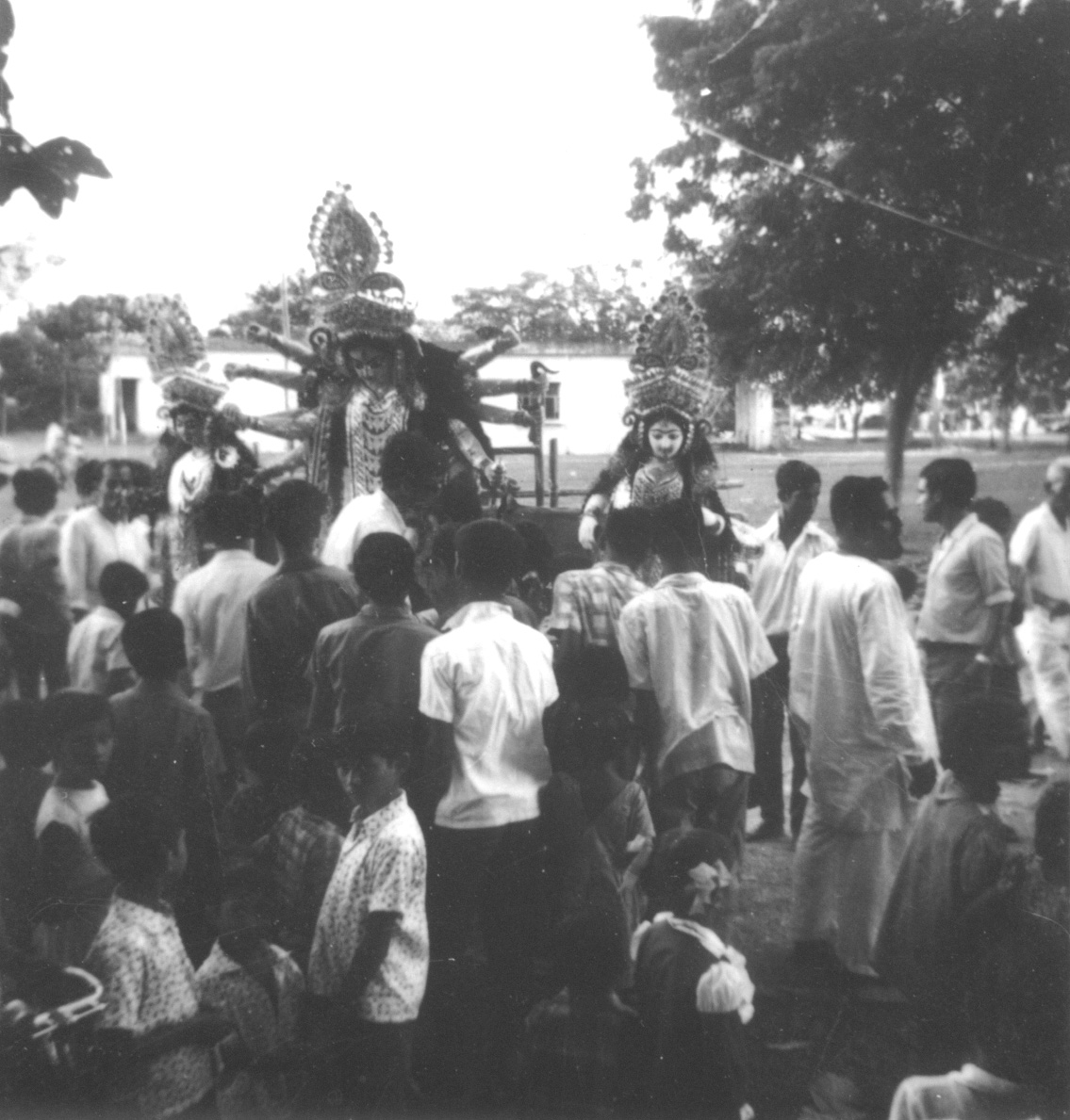 Durga Pratima Bisarjan - IIT Kharagpur Campus during the seventies.