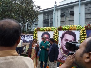 Rudraprasad and Swatilekha at the Nandikar Theater Festival