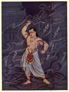 Young Bheema fight with the Nagas