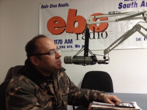 Binayak Bandopadhyay at the EBC Radio Studio