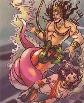 Arjuna and Ulupi