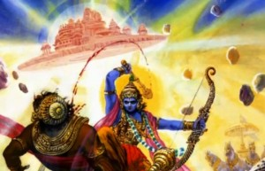Krishna fights Salwa and his Vimana (airship) Sauvanagar