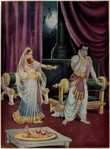 Urvashi curses Arjuna