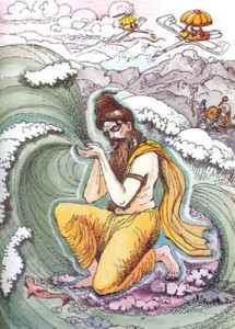 Agastya drinks the ocean