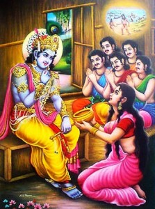 Lord Krishna saves the Pandavas from Durvasa