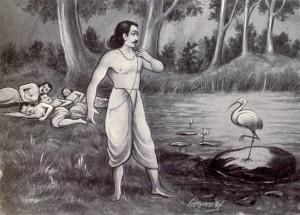Yudhistira and Yaksha