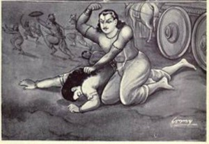 Bheem punishes Susharma for attacking Virat's kingdom.
