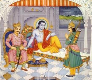 Duryodhan and Arjun seeks Krishna's support