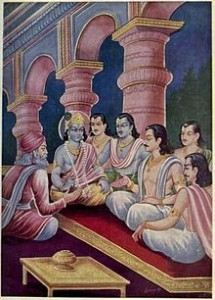 Sanjay negotiates with the Pandavas