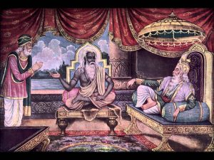 Vyasa gives Sanjay the power of distant vision.