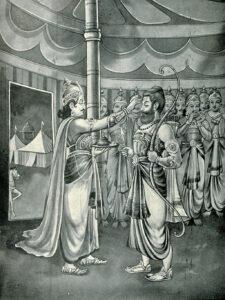 Duryodhana appoints Dronacharya_as_commander-in chief